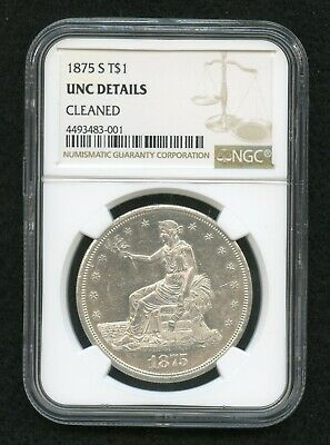1875S Trade Dollar Uncirculated Details NGC