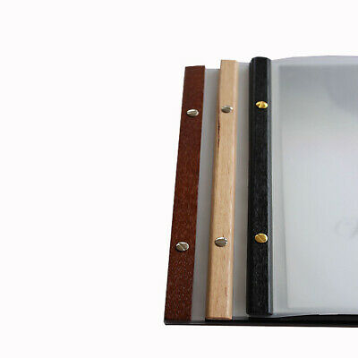 Square Deluxe menu folder 10 pkts & free freight choice of spine colour