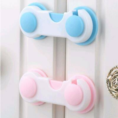 Baby Safety Cupboard Door Drawer Lock Clip Baby/Kid/Child Proof Fridge Locks US