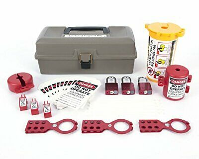 Zing Green Products 2734 RecycLockout Lockout Tagout Kit with Aluminum Padloc...