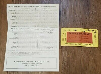 1934 DEC Eastern Boundry Railroad Co. Ticket Monthly Commutation Train Ticket NY