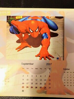 Spiderman September 2007 Monthly Calender Collectors item