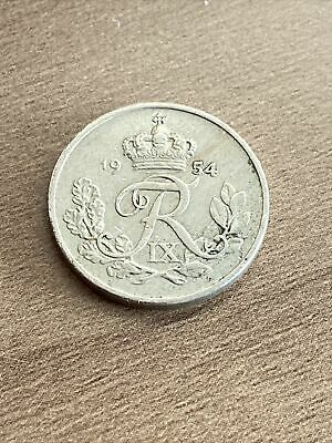 1954 - 10 ORE - Denmark - Very collectable, Uncleaned