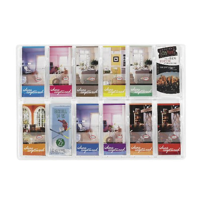Safco Products Reveal 12 Pamphlet Display, 5604CL, Wall Mountable, Thermoformed