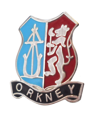 Scotland Orkney Arcaibh Crest Small Pin Badge
