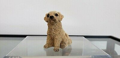 1989 SEATED GOLDEN RETRIEVER Stone Critters by United Design Corp - Signed