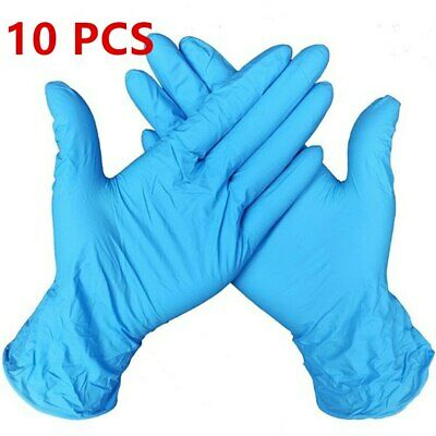 1/2/10 pcs Blue Disposable Industrial Exam Glove Nitrile Rubber Gloves