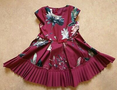 New Ted Baker Baby Girls Woven Dress Age 12-18 Months