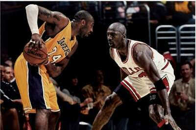 Kobe Bryant VS Michael Jordan (No Framed Poster or Framed Canvas)