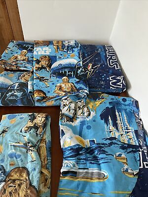 Star Wars Twin Sheets Sets Lot 6 Piece Fitted Sheets Flat Sheets Duvet Bedspread