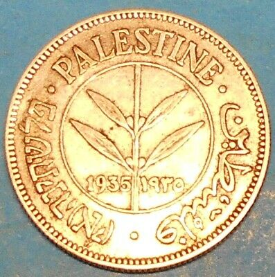 Palestine 50 mils 1935 !!! SUPER OLD SILVER COIN !!! Don't miss it !!!