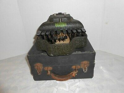 Antique Early 1900 STENOTYPE STENOGRAPHER Case Vintage Stenograph Typewriter