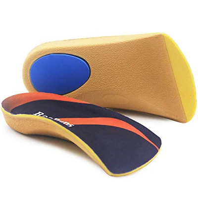 Orthotic Insoles, RooRuns 3/4 High Arch Support Insoles Shoe Inserts for Flat -