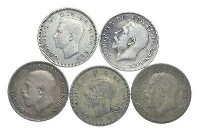 SILVER 1920s & 1940s Great Britain British 6 Pence World Coin Collection *089