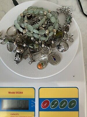 VINTAGE TO NOW 925 STERLING SILVER JEWELRY LOT for WEAR/SCRAP 164 GRAMS