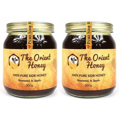2 x 500g Pure Sidr Honey Top Quality 100% Authentic Royal Raw No Chemicals