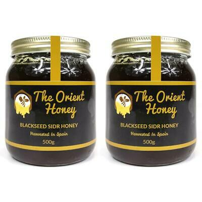 2 x 500g Black Seed Sidr Honey Top Quality 100% Authentic Royal Raw No Chemicals