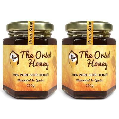 2 x 250g Pure Sidr Honey Top Quality Authentic Royal Raw No Chemicals Orient