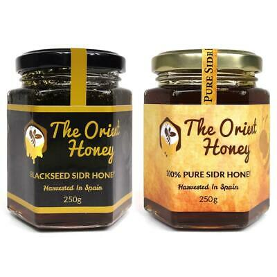250g Black Seed Sidr + 250g Pure Sidr Honey Top Quality 100% Authentic Raw Royal