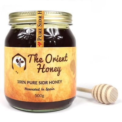 500g Pure Sidr Honey + Dipper Top Quality 100% Authentic Royal Raw No Chemicals