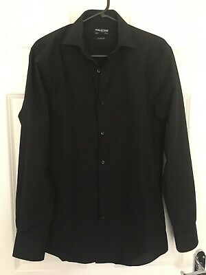 Black Shirt 14.5 collar Classic Fit
