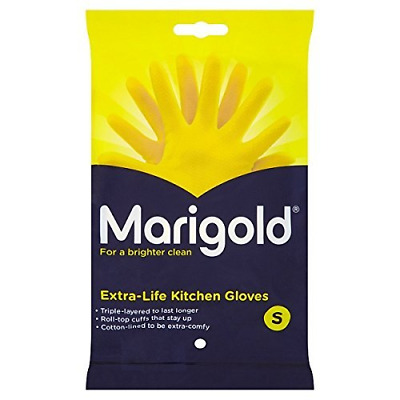( 6 Pack ) Marigold Extra-Life Kitchen Gloves Small 6 x small