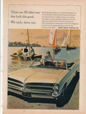 Magazine Ad - 1966 - Pontiac  - Boating
