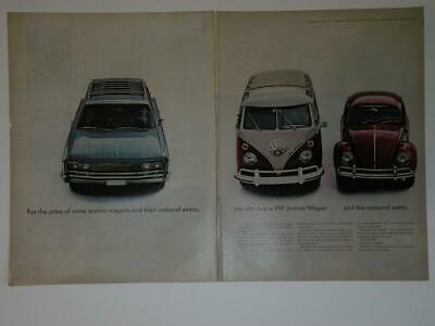 Magazine Ad* - 1966 - Volkswagen Station Wagon  (two-pages) (#2)