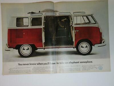 Magazine Ad* - 1966 - Volkswagen Station Wagon  (two pages)