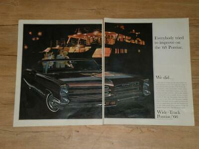 Magazine Ad* - 1966 - Pontiac Bonneville  (two pages)