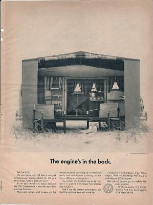 Magazine Ad - 1967 - Volkswagen - The engine's in the back