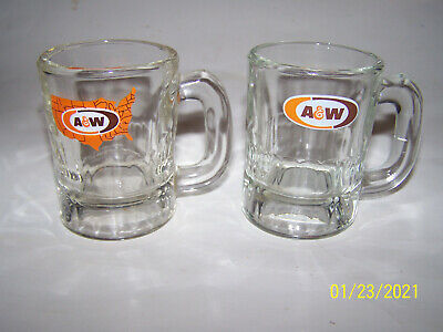 Pair Of A & W Root Beer Mini Mugs