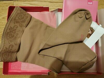 Mediven Plus Compression Stockings Thigh Caramel Closed Toe Size 4 CCL2