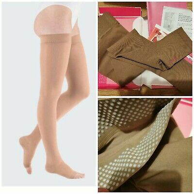 Mediven Plus Compression Stockings Thigh Beige Open Toe Size 3 CCL2
