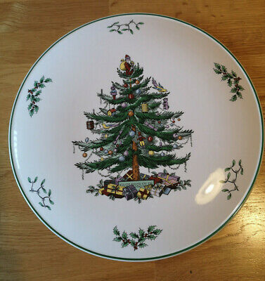 Spode Christmas Tree Plate / Gateaux Stand FREE SHIPPING