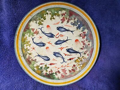 """Greek Pottery """"Handmade in Greece about 1500 BC.""""  12 3/4"""" Hand Painted"""