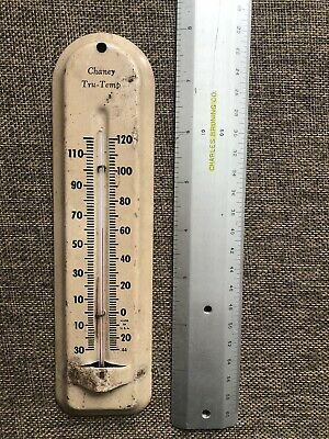 Vintage Metal Thermometer Chaney Tru-Temp