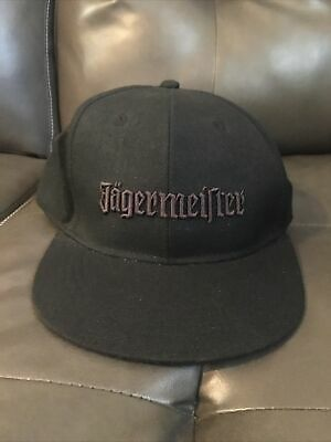 Jagermeister Hat, Black, L/XL, Preowned, Fitted