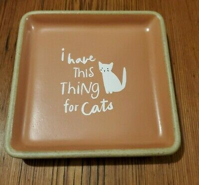 "Brand New Cat Coaster by Fringe Studio - ""I Have This Thing For Cats"""