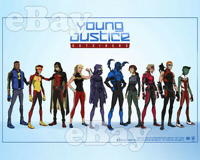 Rare! YOUNG JUSTICE OUTSIDERS Cartoon TV Photo WARNER BROS ANIMATION DC Comics