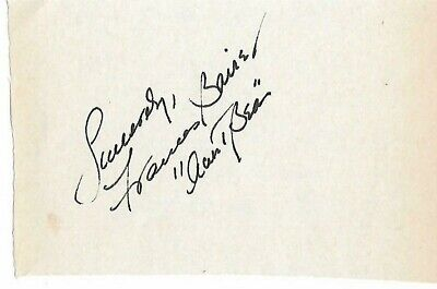 "Frances Bavier Signed Paper Aunt Bea On Andy Griffith Show Added ""Aunt Bea"""