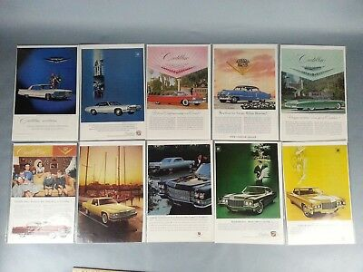 10 Vintage Orignal Paper Pontiac Car Ad 1950's 1960s 70's Advertising Magazine