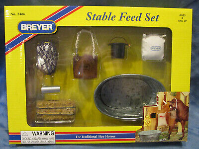 Breyer Stable Feed Set, For traditional size Horses, #2486, NRFB