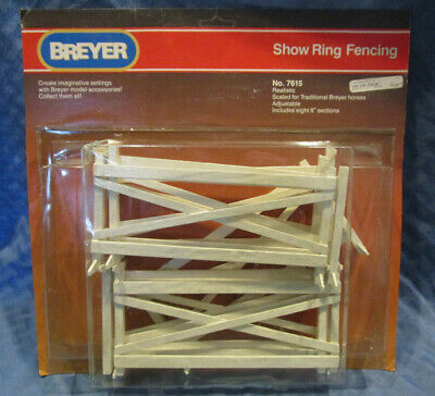 """Breyer Show Ring Fencing, #7615, eight 8"""" sections, 1991"""