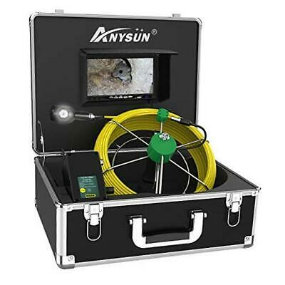 Sewer Camera Pipe Inspection Camera with Dual Lens 7 Inch IPS Screen,  50m/165ft
