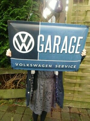 VW GARAGE Volkswagen EXTRA LARGE Wall Sign Set over 23 inches Made in Germany