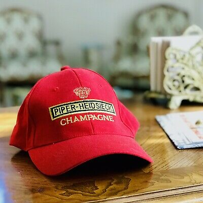 New PIPER-HEIDSIECK Champagne Red Baseball Hat/Cap Embroidered Raised Logo Rare