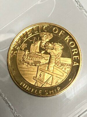 5000th anniversary Iron-Clad Turtle Boats Gold Proof 5000 Won