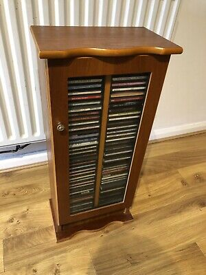 Wooden CD Cabinet( Cds Included)