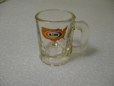 Vintage A & W Root Beer Small Mug 3 1/4 Inch with Logo